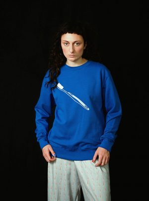 TOOTHBRUSH SWEATER UNISEX BLUE