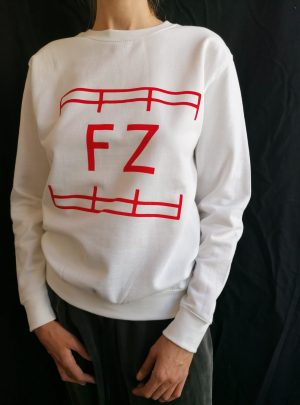 FZ SWEATER RED ON WHITE