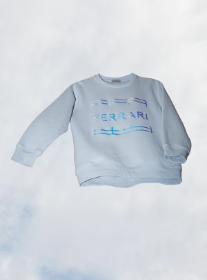 GLITTER UNISEX SWEATER PALE BLUE