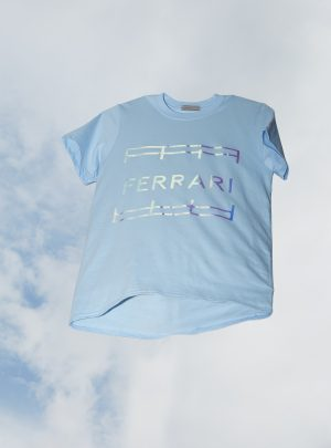 FERRARI SHIRT UNISEX DISCO PALE BLUE