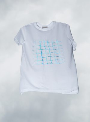 White Unisex Shirt Spider Web Disko