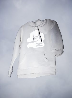 FZ bubbles HOODIE SAND with reflective Print