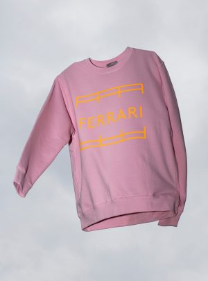UNISEX SWEATER Dusty Pink/Neonorange