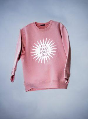 FZ reflective SUN pale pink UNISEX SWEATER