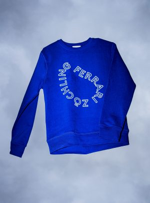 UNISEX SWEATER BLUE with GLOW IN THE DARK