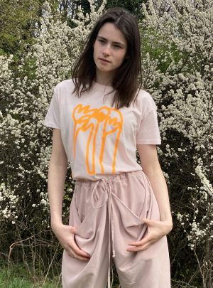 TULIP SHIRT FZxBETTINA UNISEX rose with neonorange